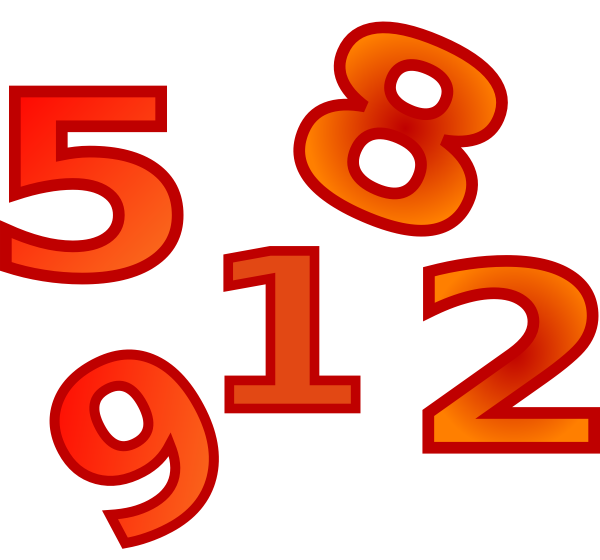 Creation Days Numbers 6 SVG Clip arts