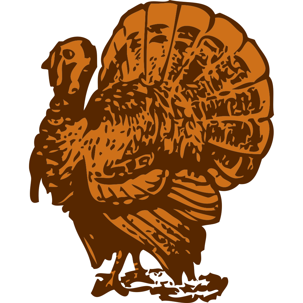Turkey On A Platter SVG Clip arts