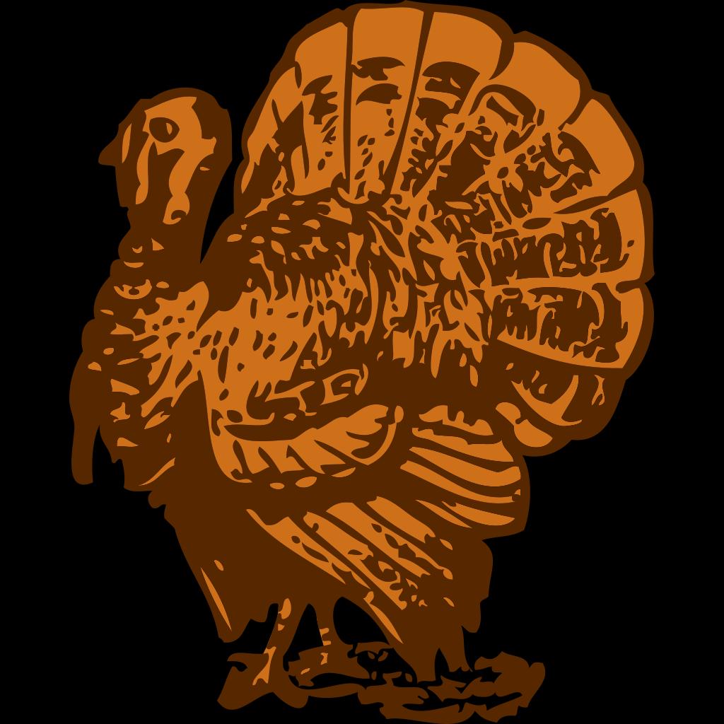 Turkey On A Platter SVG Clip arts