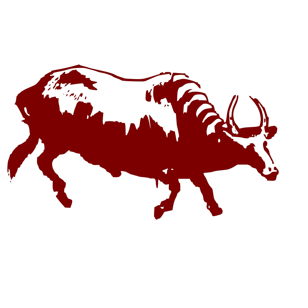 Buffalo With Horns SVG Clip arts