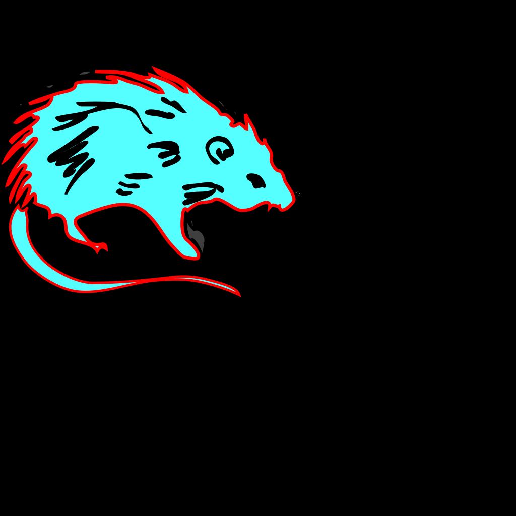 Hot Blue Rat SVG Clip arts