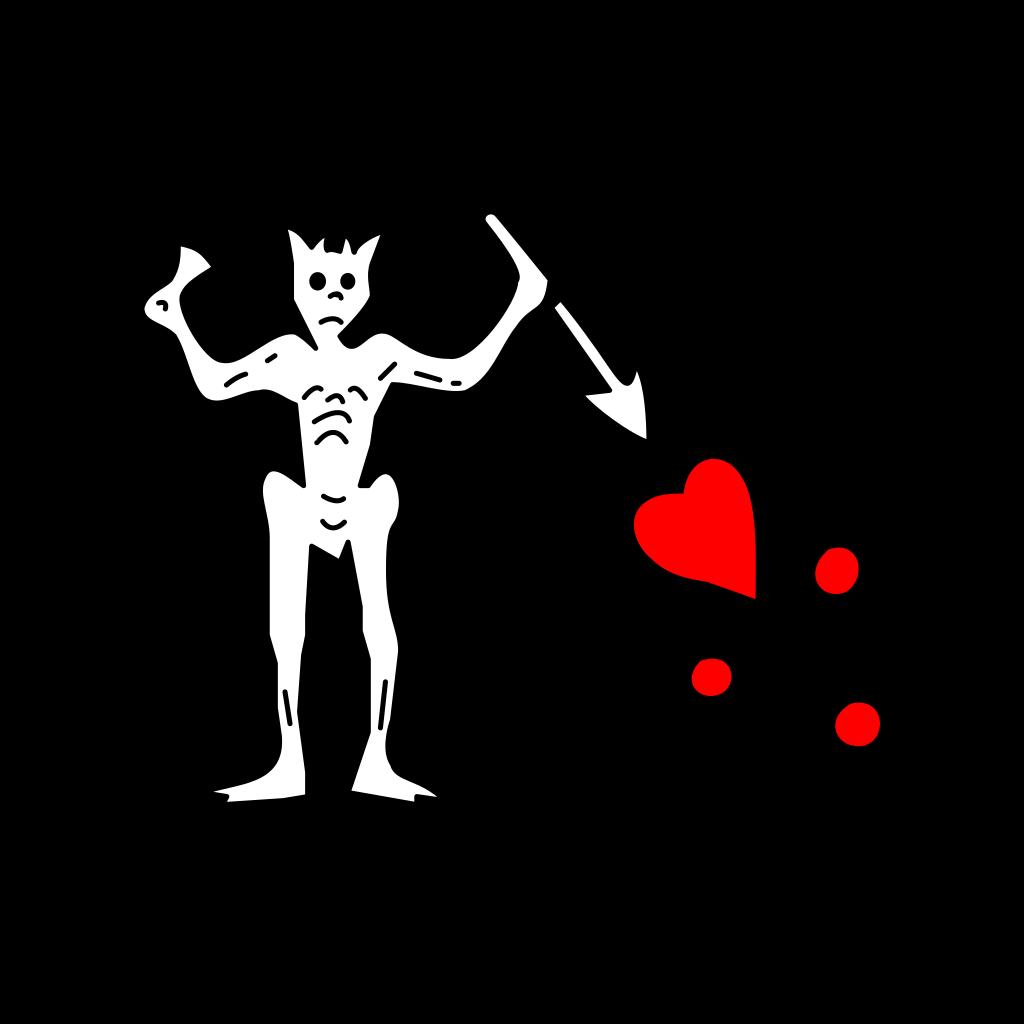 Pirate Flag SVG Clip arts
