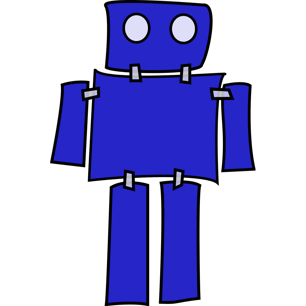 Blue Robot SVG Clip arts