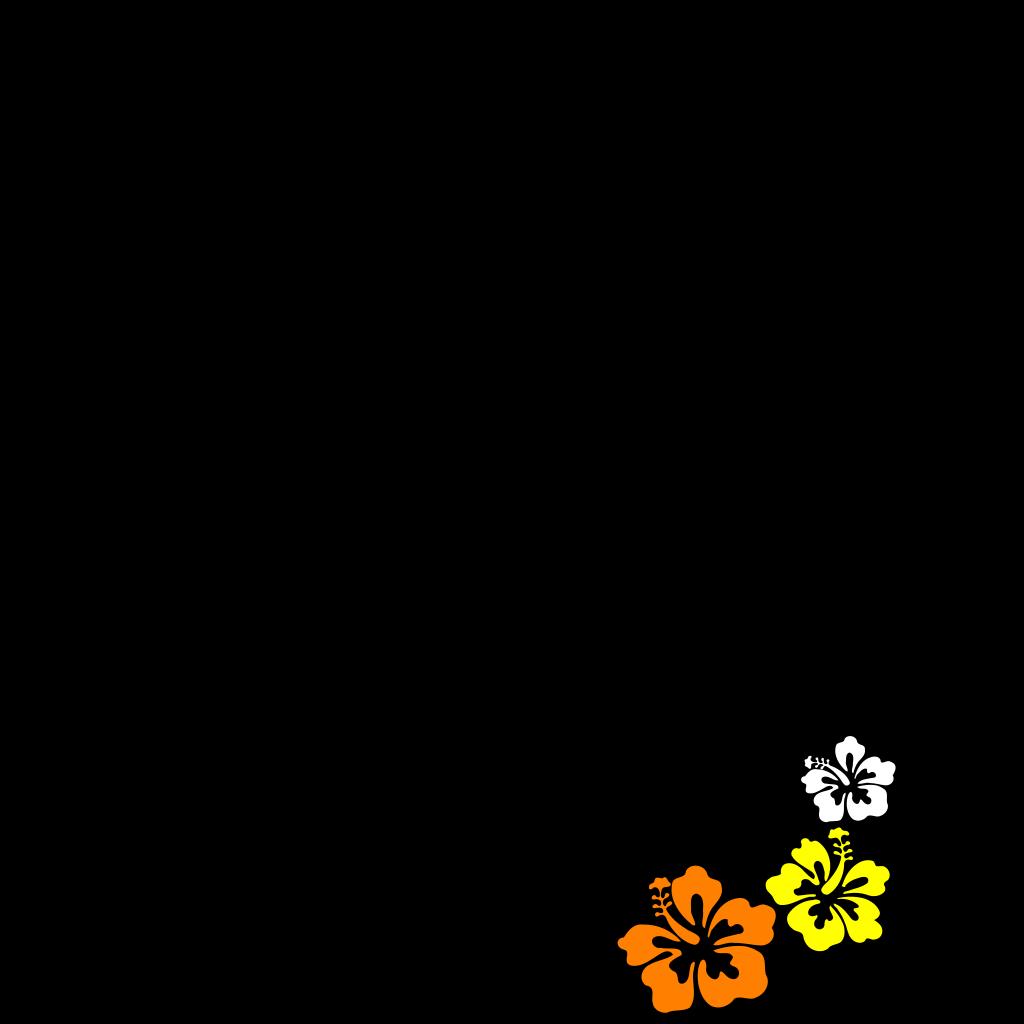 Hibiscus 3 SVG Clip arts