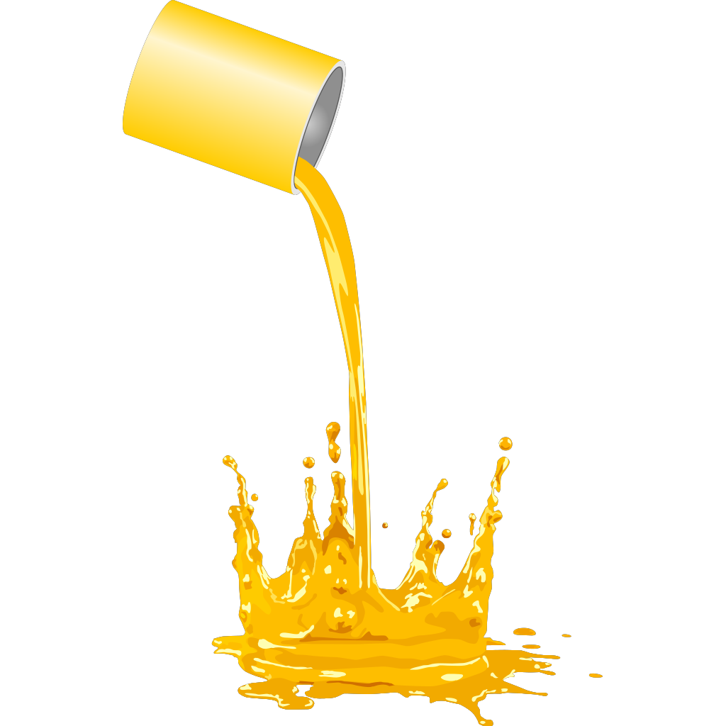 Paint Bucket Spilling SVG Clip arts