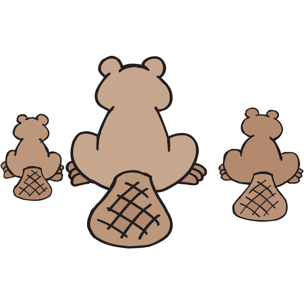Beaver Family SVG Clip arts