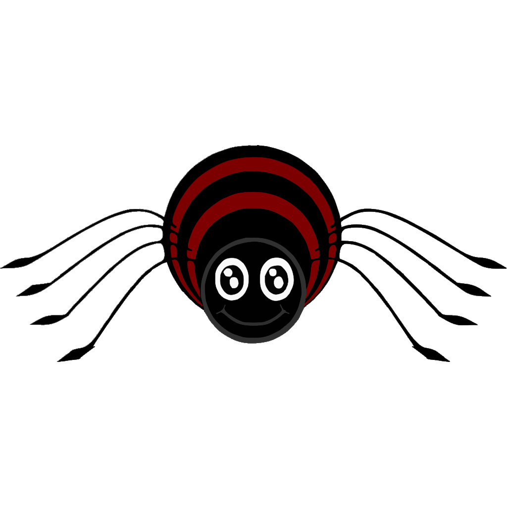 Cartoon Spider SVG Clip arts