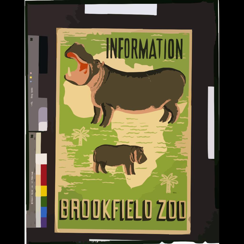 Hippopotamus 2 SVG Clip arts