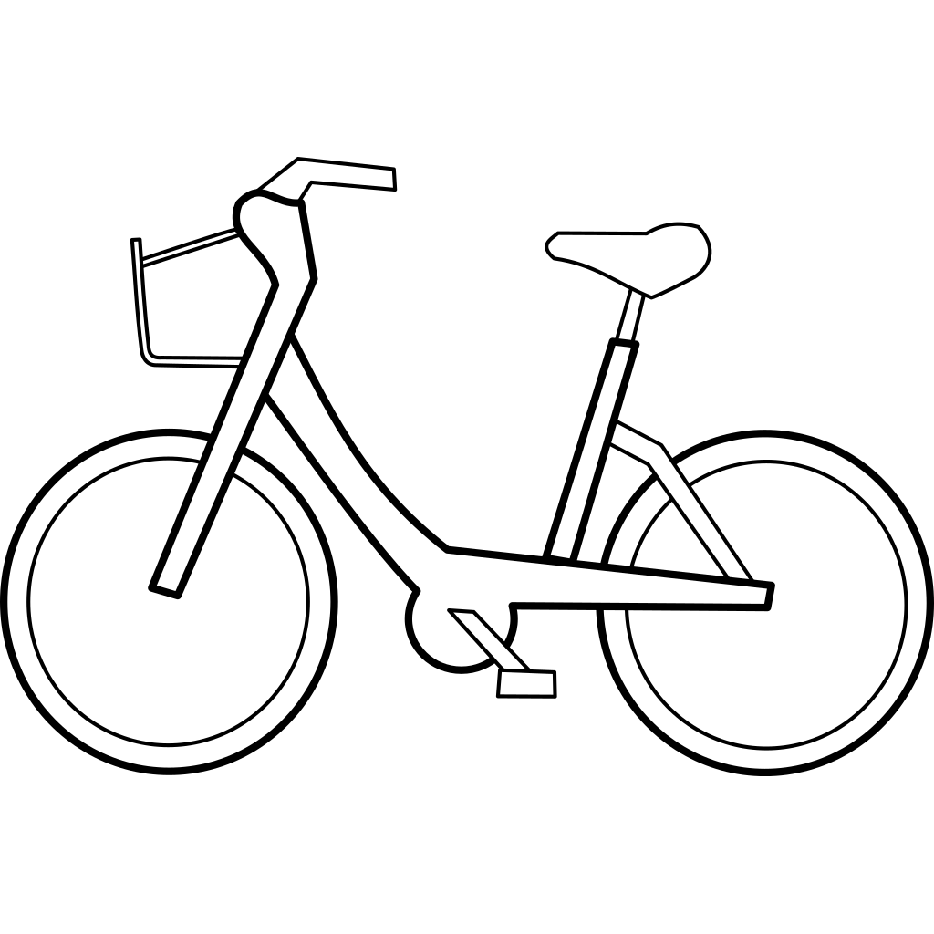 Bicycle Trail Black SVG Clip arts