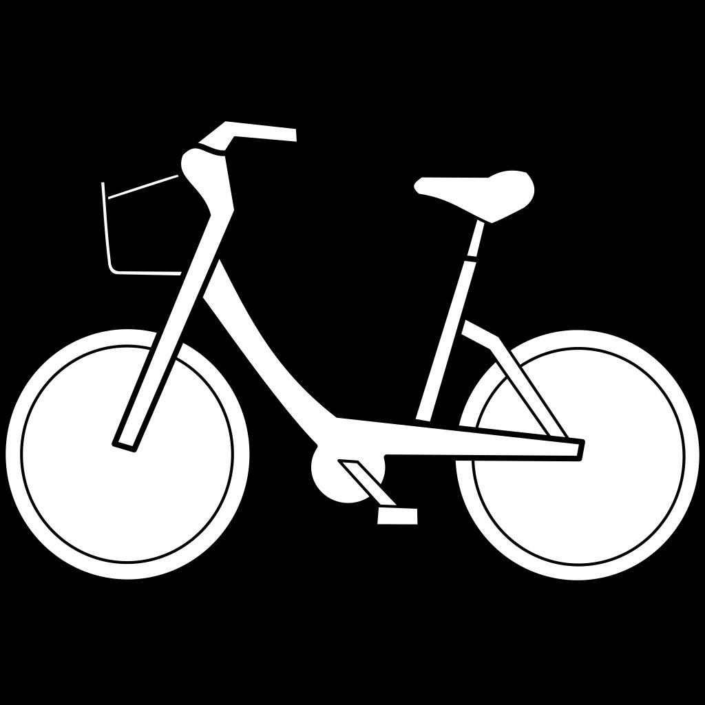 Bicycle Trail Black SVG Clip arts