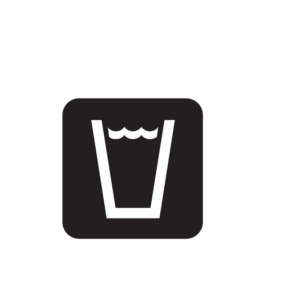 Drinking Water Black SVG Clip arts