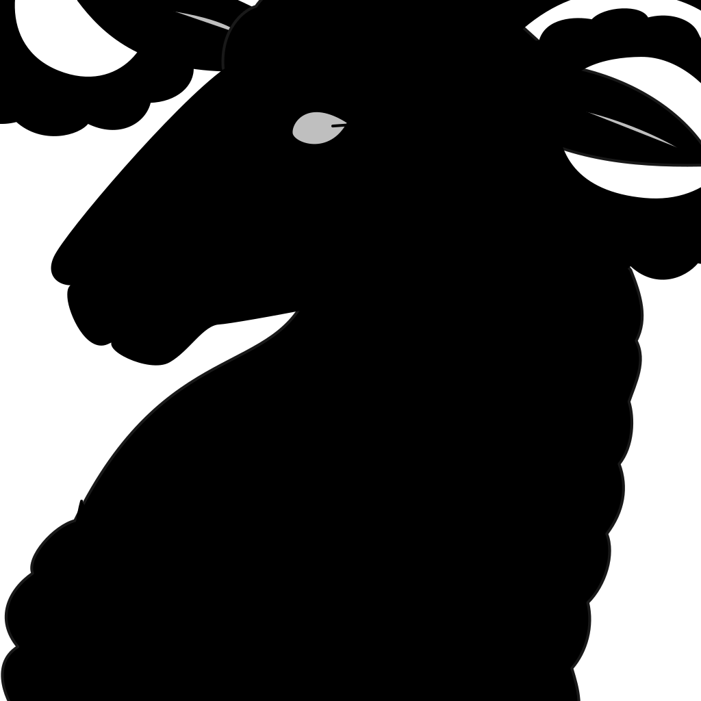 Dall Sheep Ram SVG Clip arts