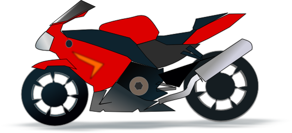 Motor Bike Trail Black SVG Clip arts