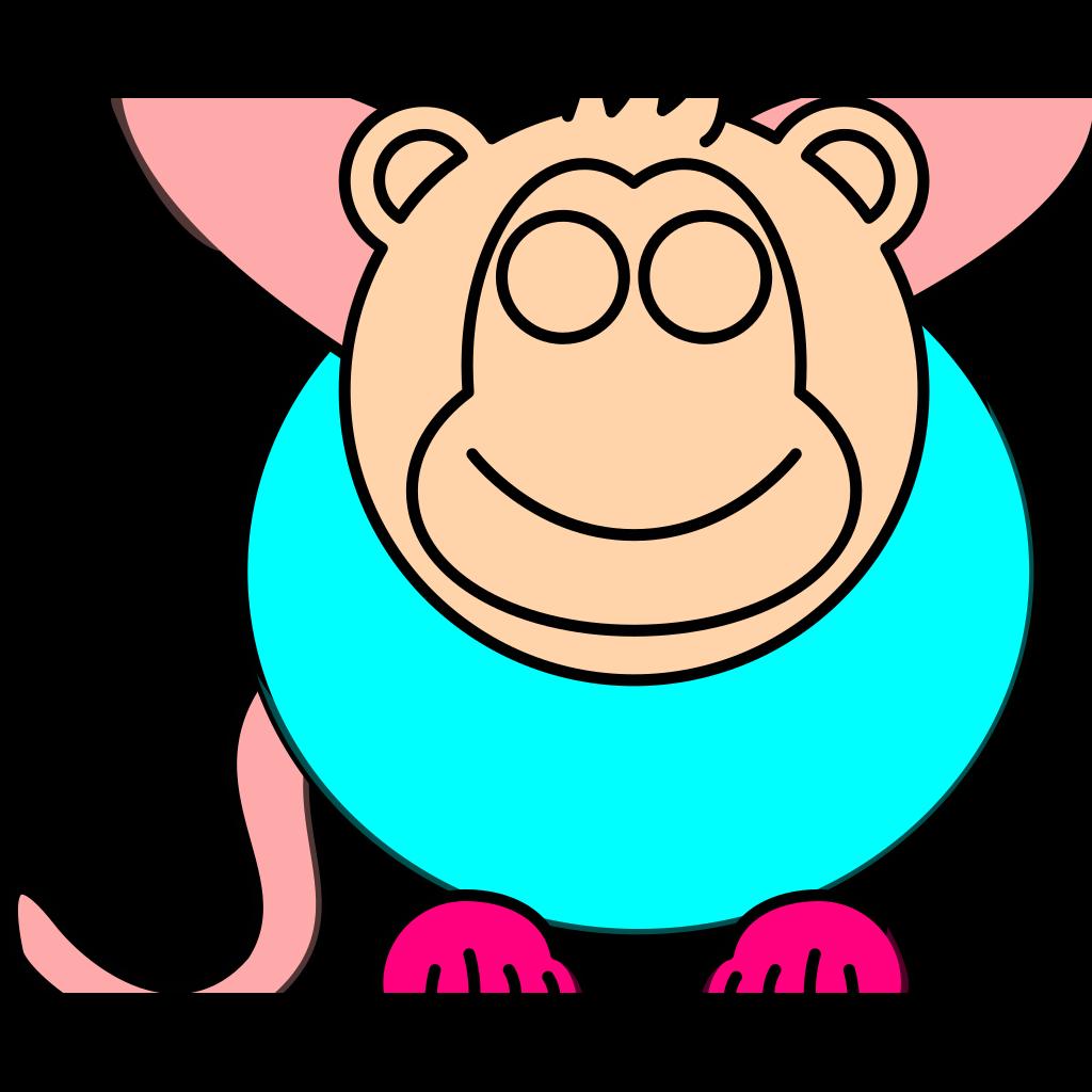 Monkey Head SVG Clip arts