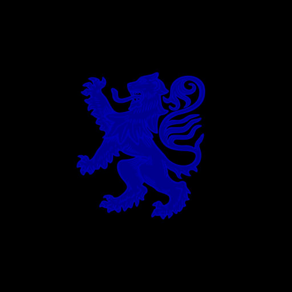 Blue Lion SVG Clip arts