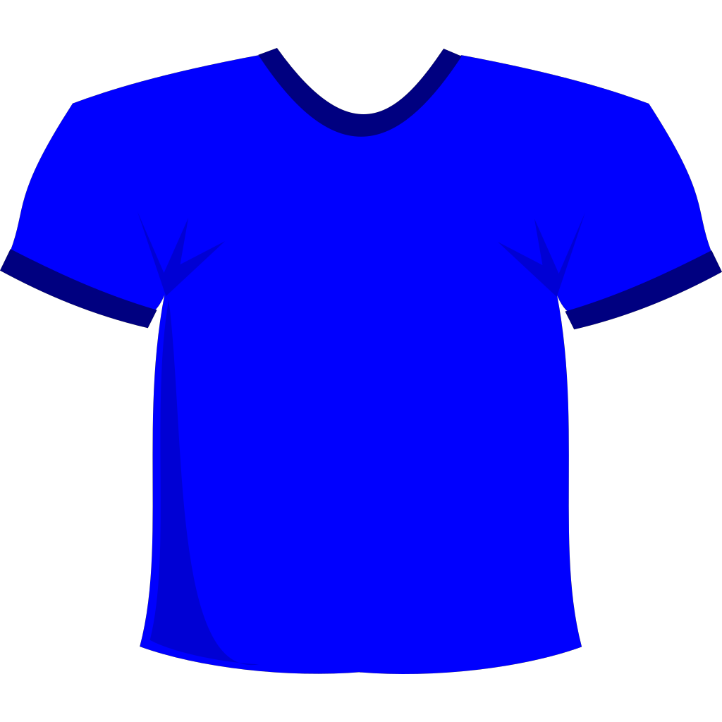 Blue T-shirt SVG Clip arts