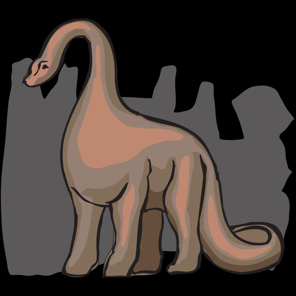 Brown Shaded Brachiosaurus SVG Clip arts
