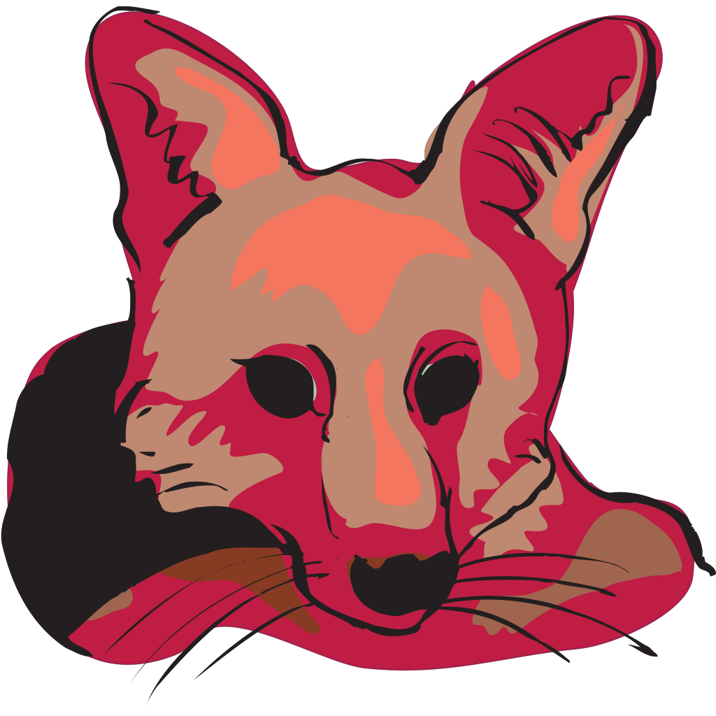 Red Fox Face SVG Clip arts