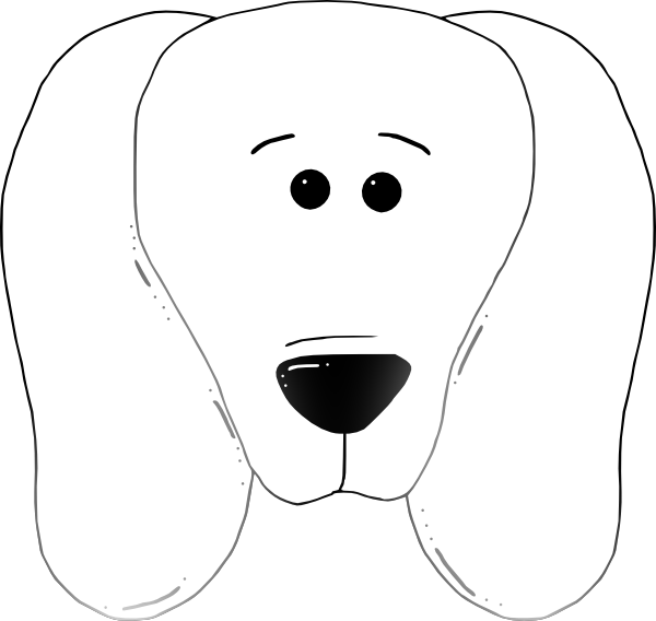 Dog 03 Drawn With Straight Lines SVG Clip arts