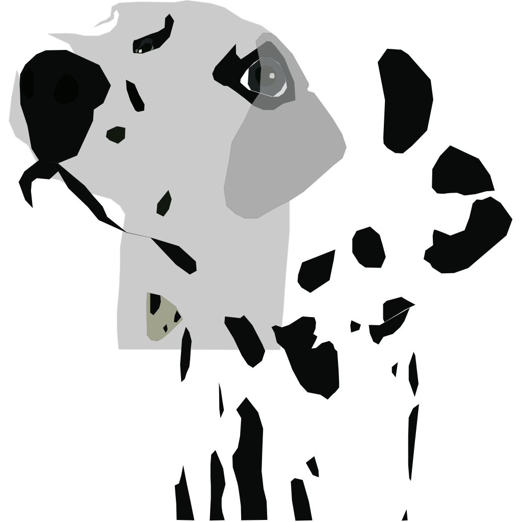 Dog 04 Drawn With Straight Lines SVG Clip arts