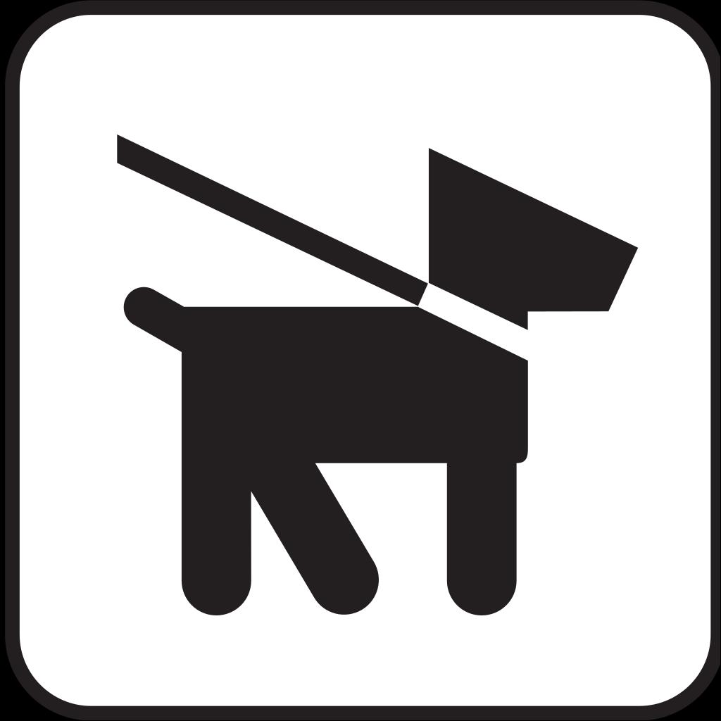 Dog On Leash SVG Clip arts