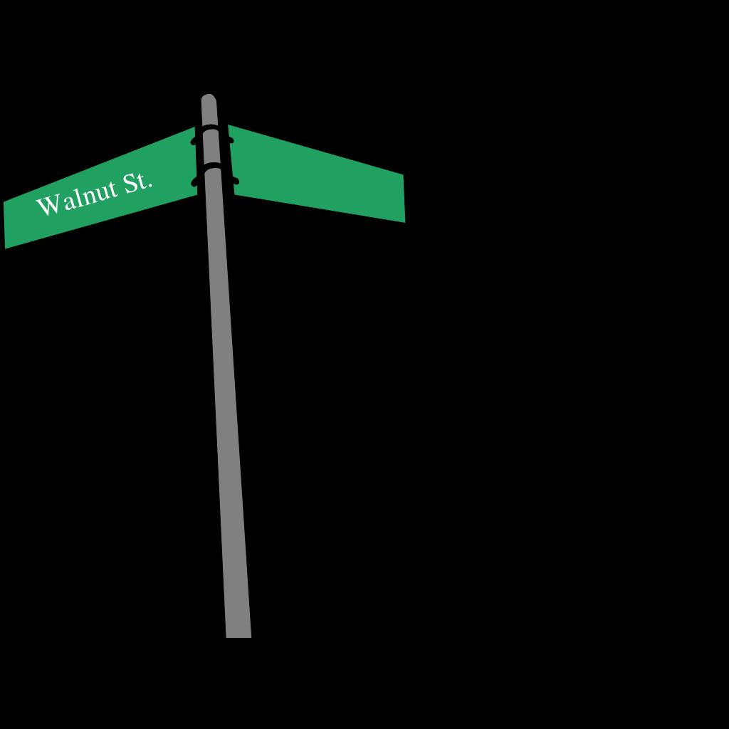 Three Way Intersection SVG Clip arts