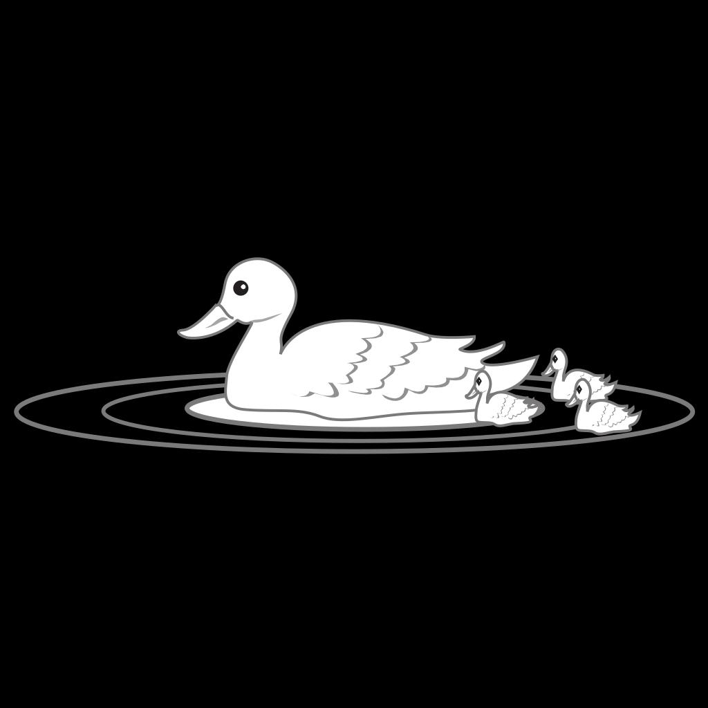 Swimming Duck Family SVG Clip arts