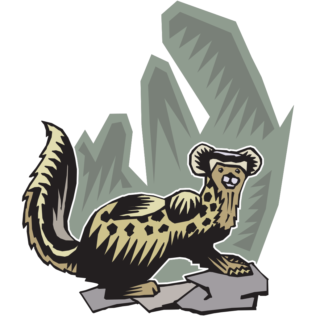 Stylized Ferret Art SVG Clip arts