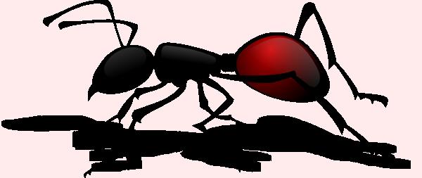 Cartoon Ant Silhouette SVG Clip arts