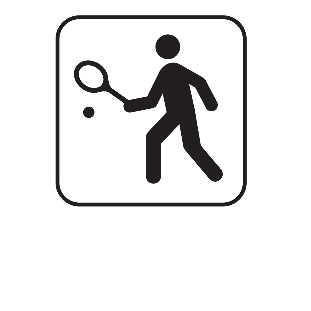 Tennis White SVG Clip arts