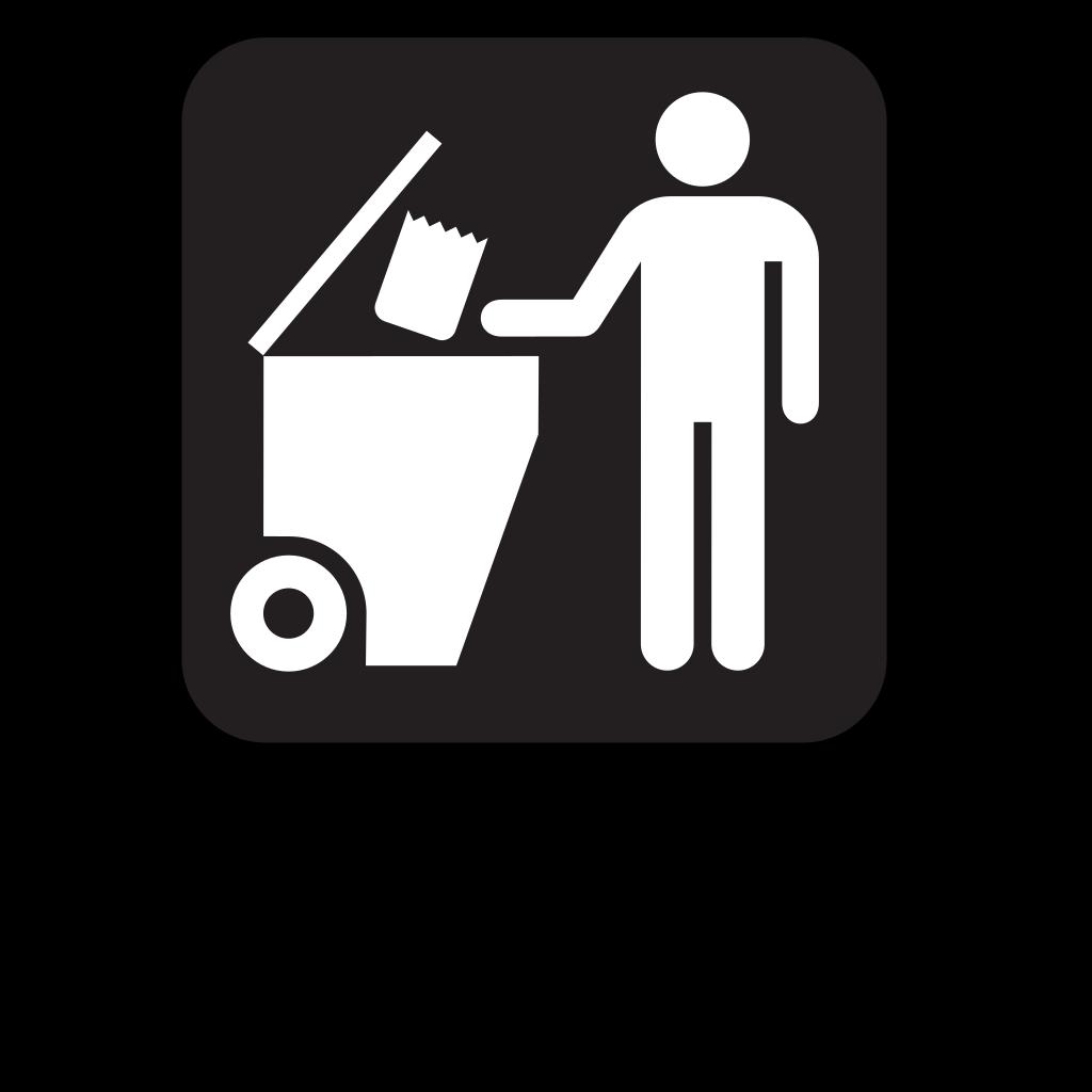 Trash Dumpster Black SVG Clip arts