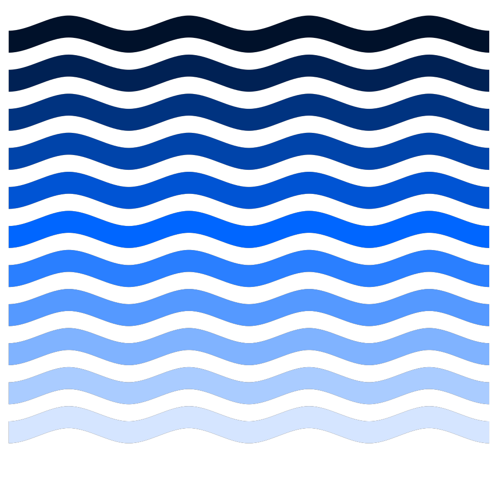 Simple Water Waves SVG Clip arts