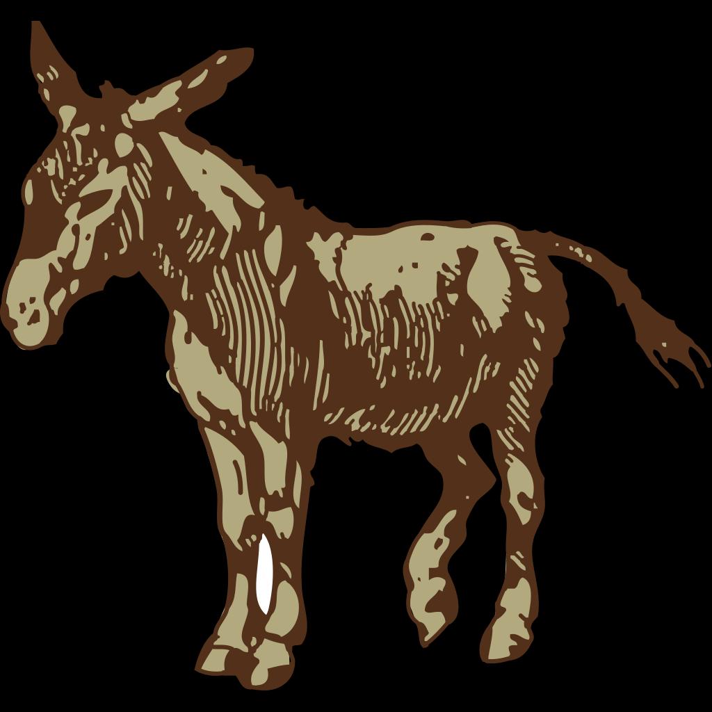 Brown Donkey SVG Clip arts