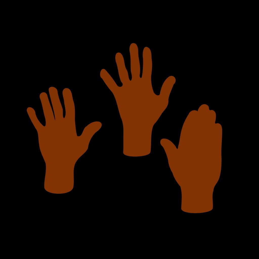 Three Hands SVG Clip arts