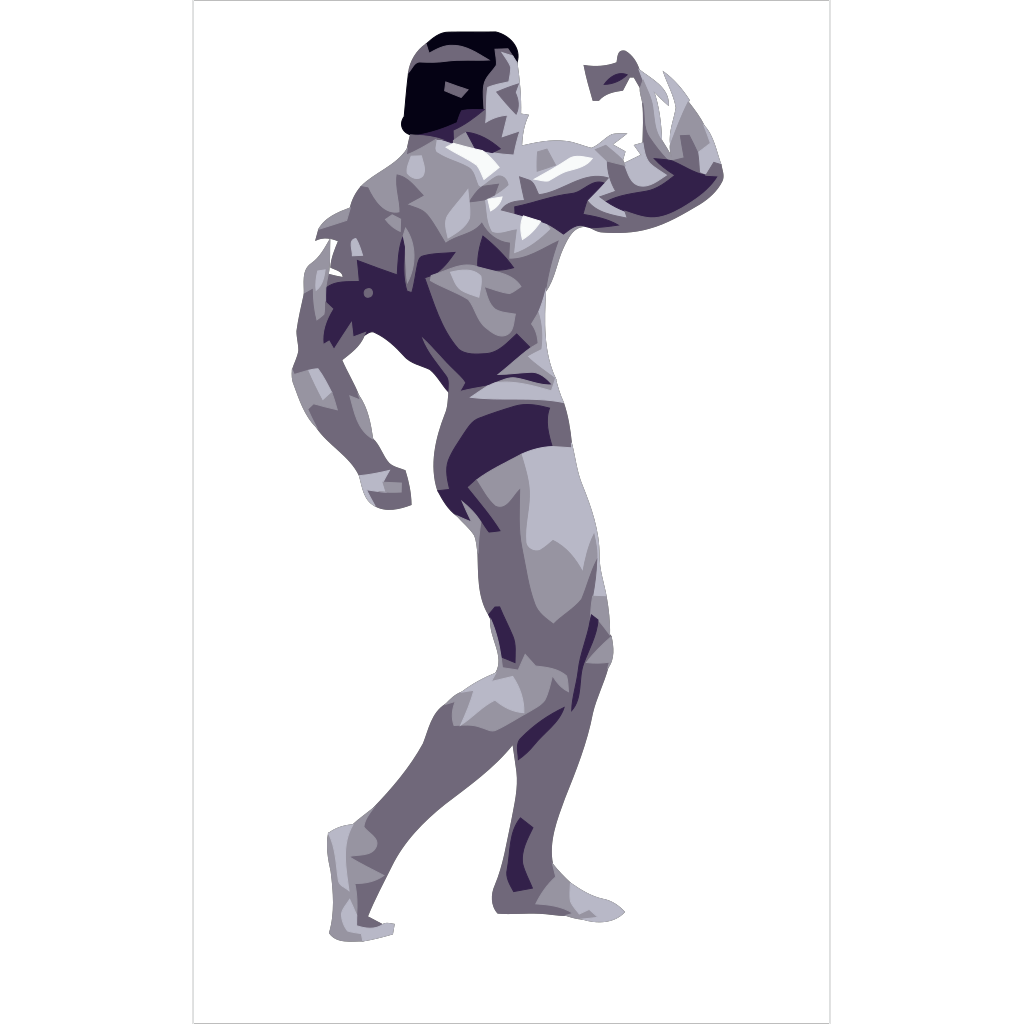 Posing Body Builder SVG Clip arts