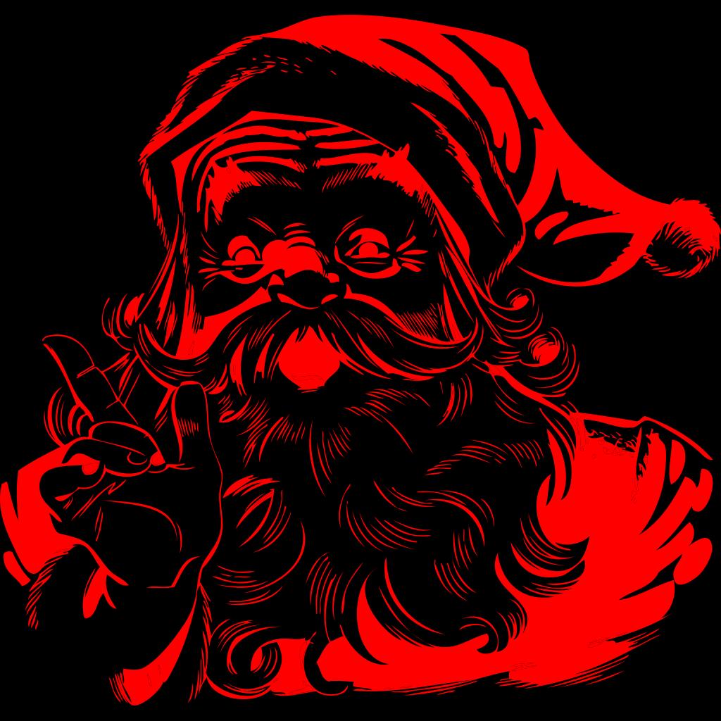 Santa And Reind... Free Clip Art Santa And Reindeer