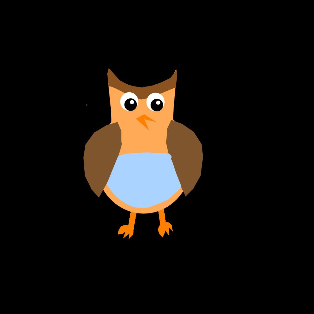 Cartoon Owl Sitting On A Book SVG Clip arts