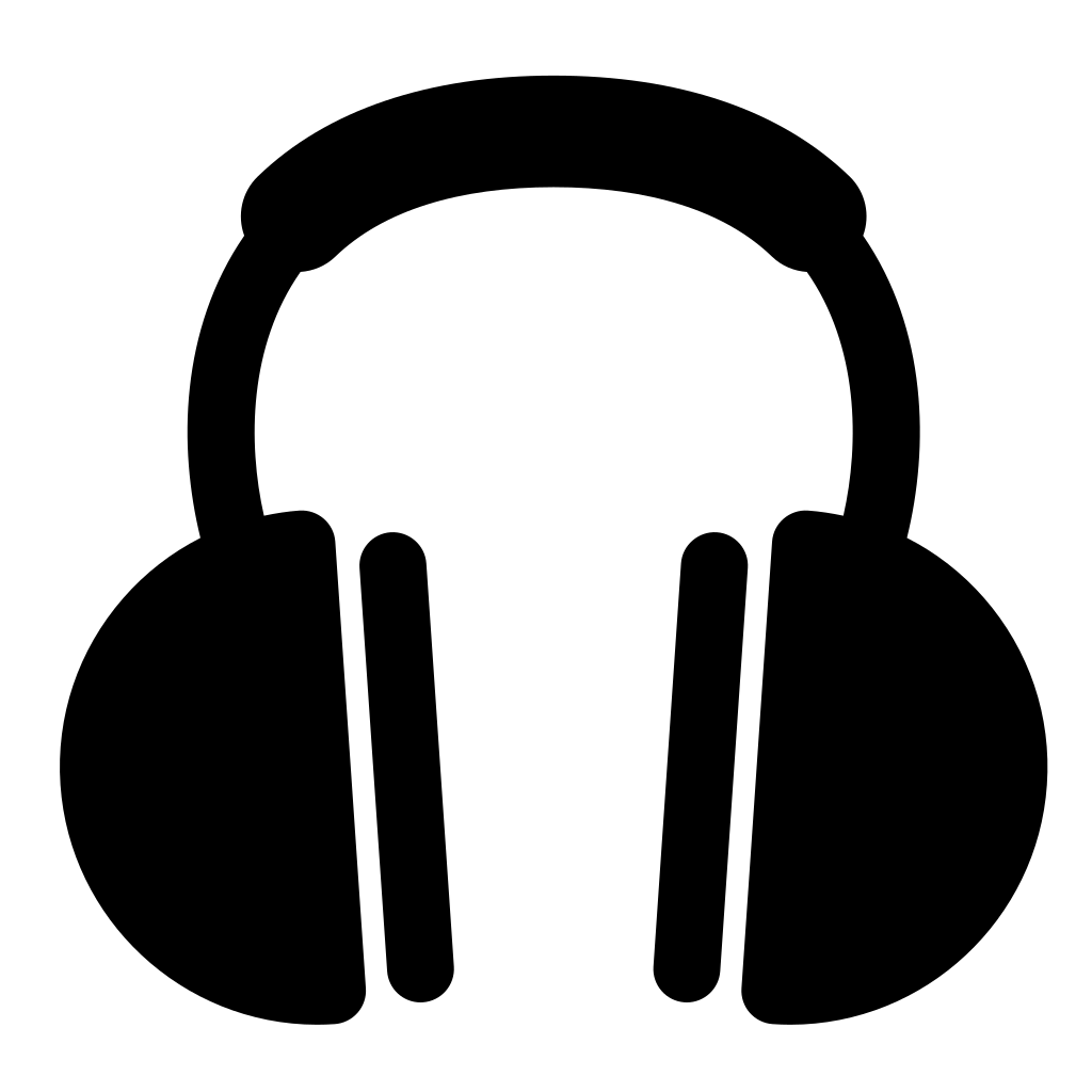 Headphones Simple SVG Clip arts