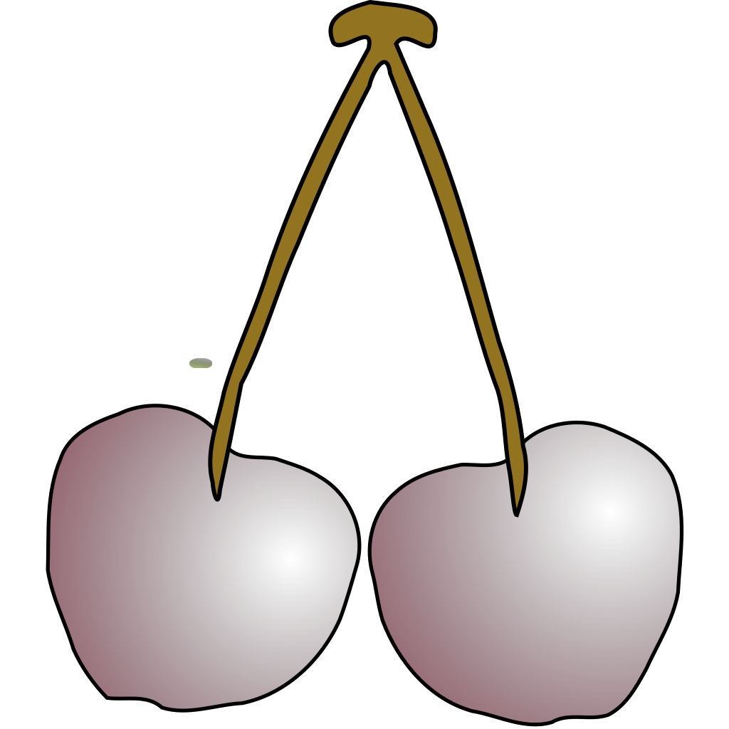 Cherries Fruit SVG Clip arts