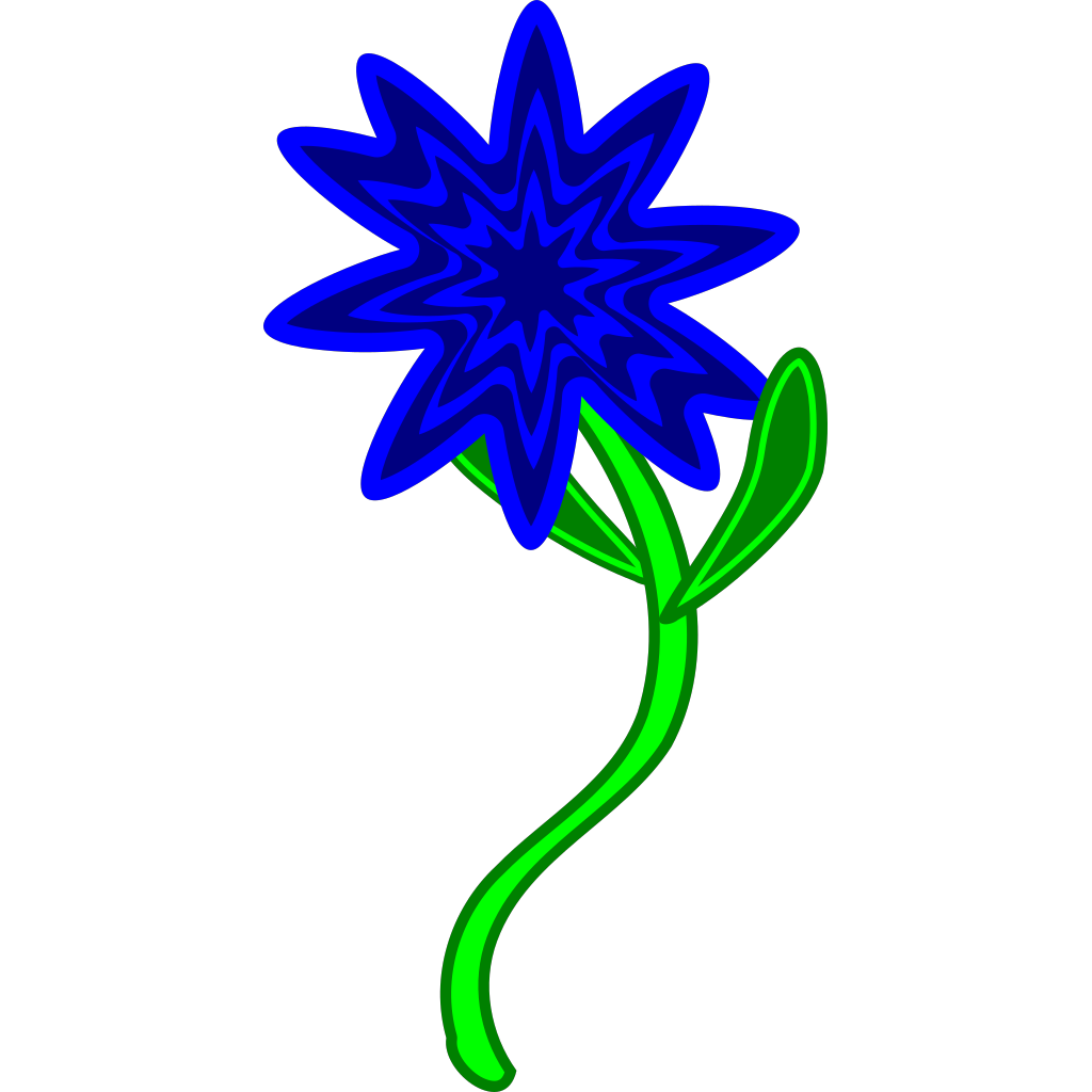 Flower Art Design Png Blue Flower Design Clip Art