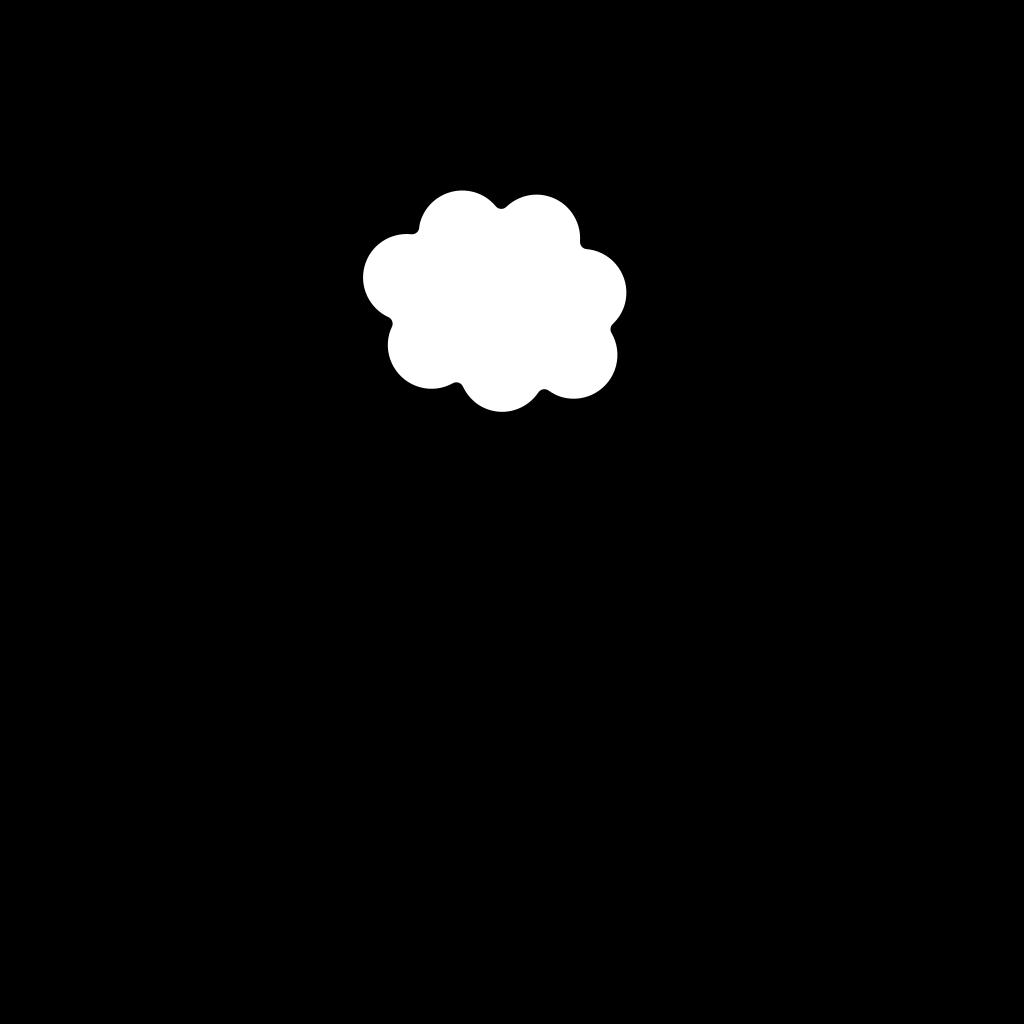 Blue Cloud SVG Clip arts