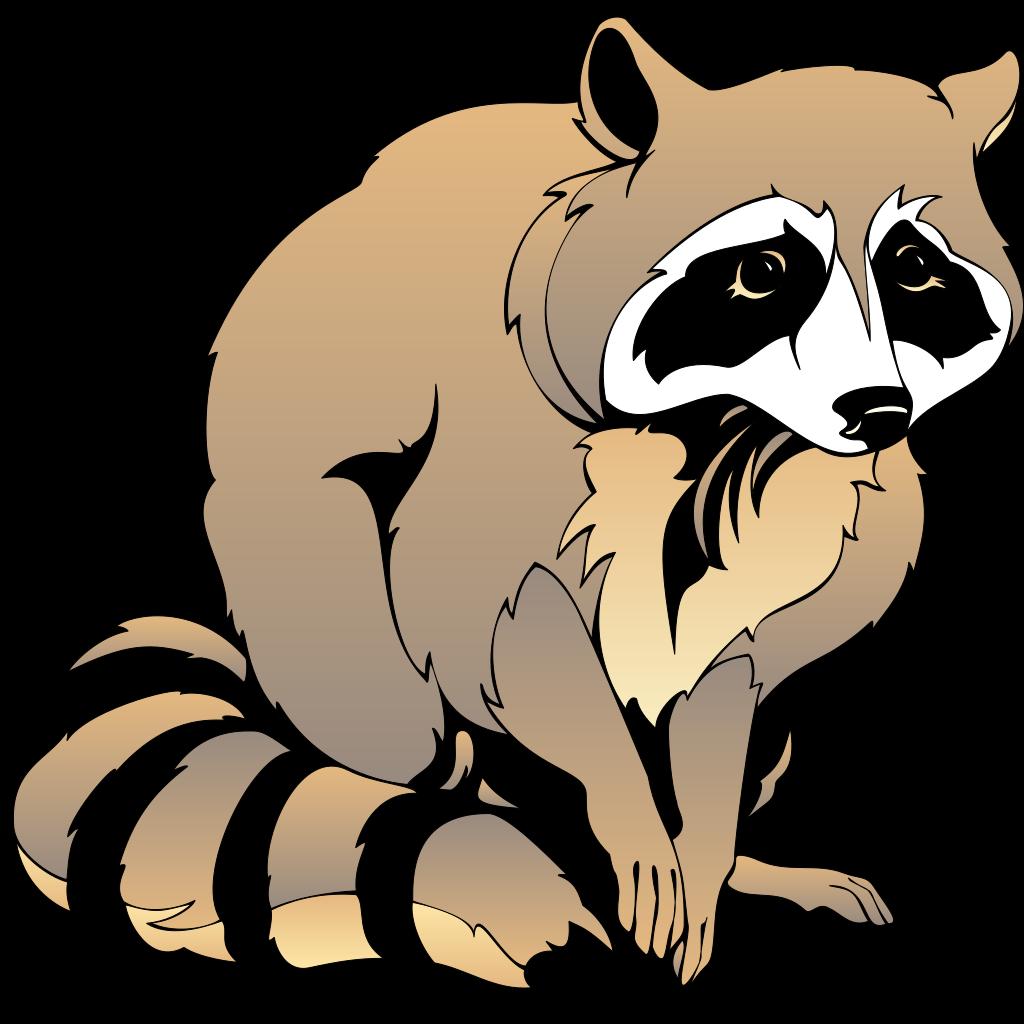 Raccoon SVG Clip arts