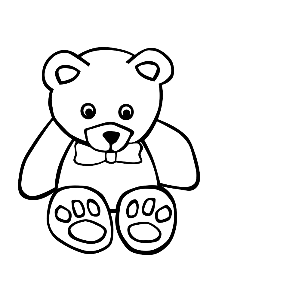 Simple Teddy Bear SVG Clip arts