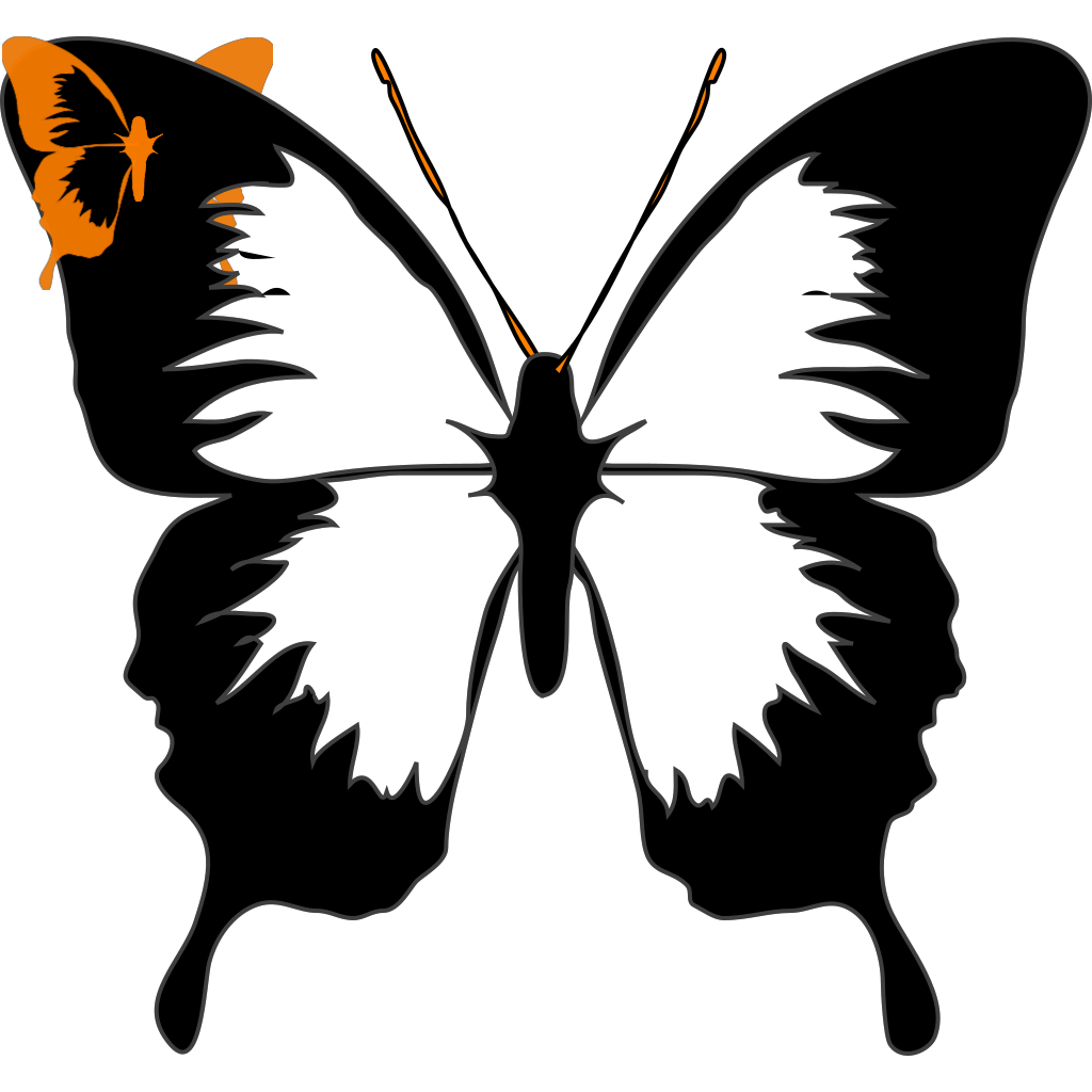 Butterfly Black SVG Clip arts