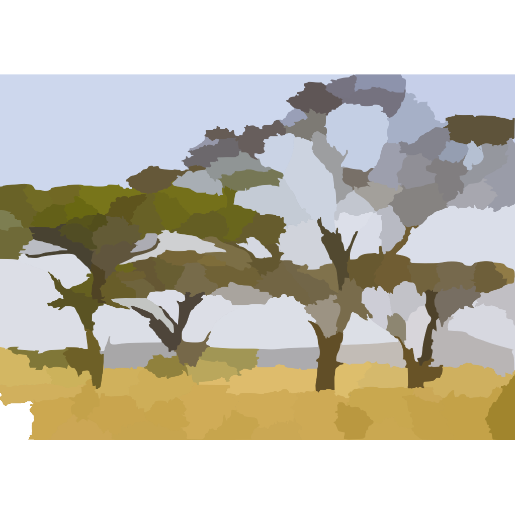 Landscape With Abstract Trees SVG Clip arts