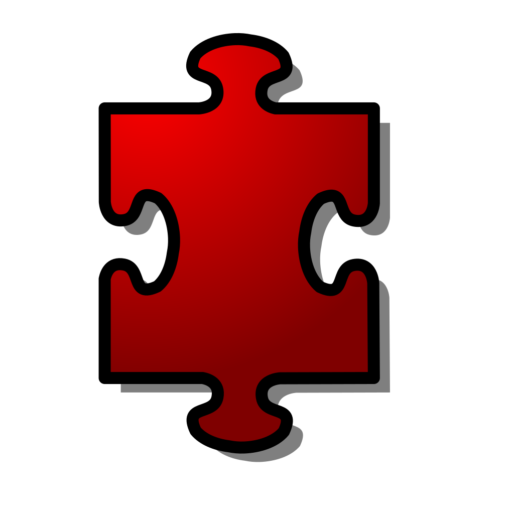 Jigsaw Red 10 SVG Clip arts