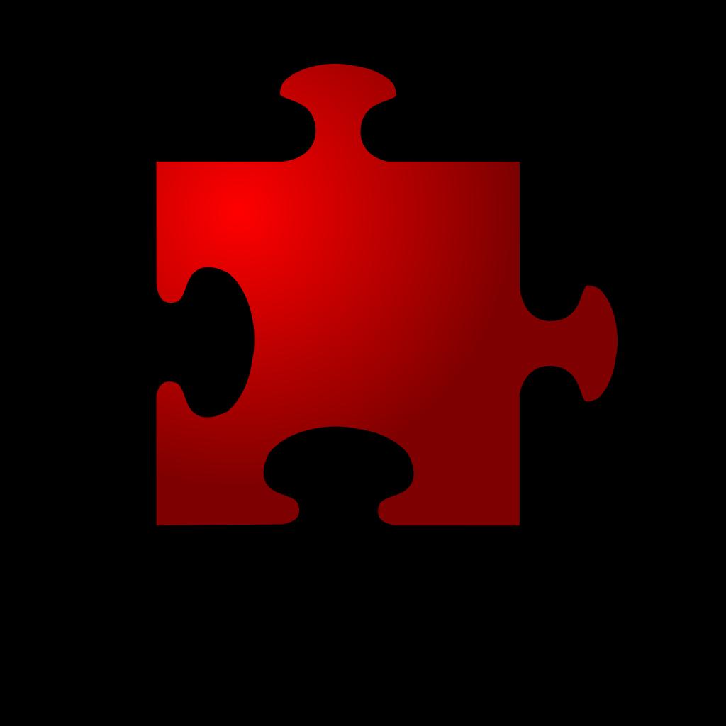 Jigsaw Red 10 SVG Clip arts
