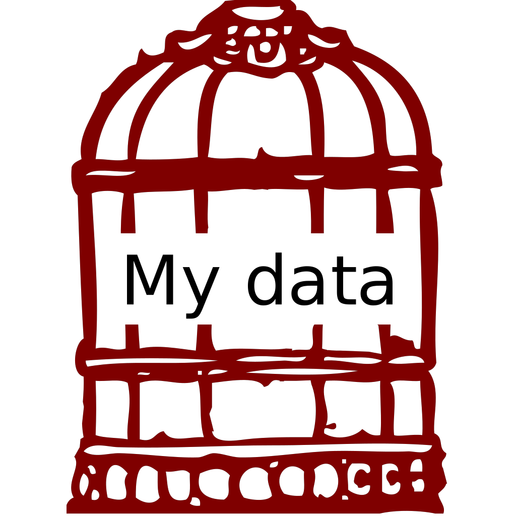 Data In A Cage SVG Clip arts