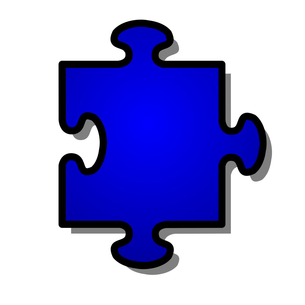 Jigsaw Blue Piece svg