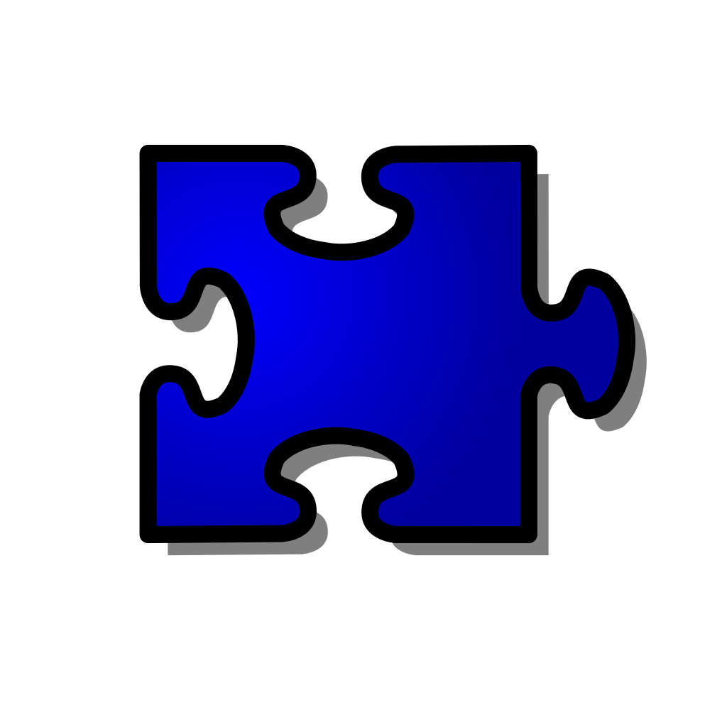 Jigsaw Blue SVG Clip arts
